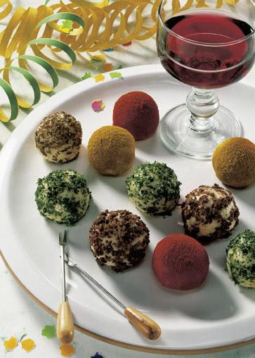 Snack-Rezept: Camembert-Trüffel (Vegetarier geeignet) - Foto: Wirths PR