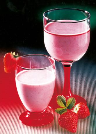 Erdbeer-Vanillemilch (Vegetarier geeignet) - Foto: Wirths PR