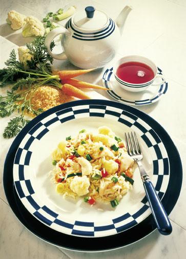 Fischrezept: Gemüsereis mit Rotbarsch - Foto: Wirths PR