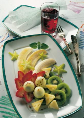 Rezept für einen großen Obstteller - Foto: Wirths PR