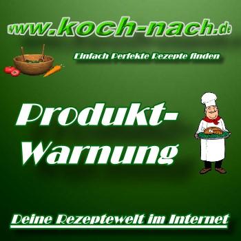 Produkt-Warnung - Aktuell -