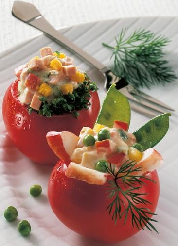 Party-Rezept: Gefüllte Tomaten mit Hummerkrabben - Foto: Wirths PR