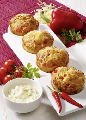 Snack-Rezept - Pikante Muffins (Der Hit auf jeder Party) - Foto: Wirths PR