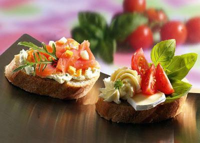 Snack-Rezept: Variation von Party-Häppchen - Foto: Wirths PR