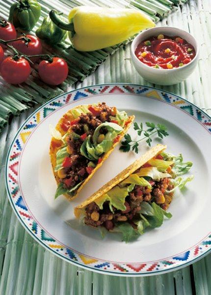 Snack-Rezept: Tacos mit Fleischfüllung