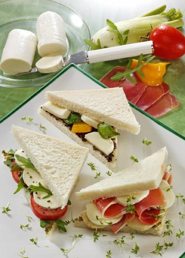 Snack-Rezept: Tramezzini in 3 Variationen (toll für Partys)