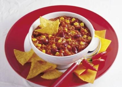 Schnelle Gerichte: Vegetarisches Chili con carne (Veganer geeignet)